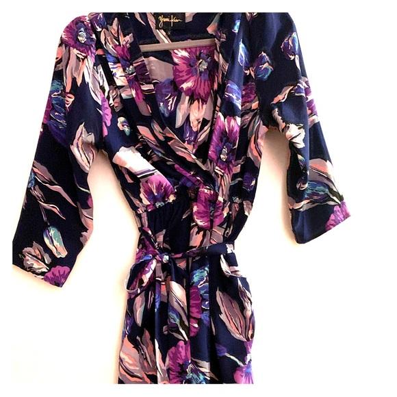 Yumi Kim Dresses & Skirts - Yumi Kim Silk Floral Printed Dress Small